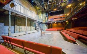 Figure 1. Seating on three sides of the Donmar Warehouse stage. Photograph courtesy of Tim van Someren.