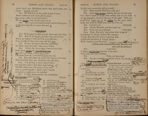 Figure 5. Horace Howard Furness's heavily annotated working copy of the Cambridge Romeo and Juliet (see n. 37). Reproduced by permission of the Kislak Center for Special Collections, Rare Books and Manuscripts, University of Pennsylvania.